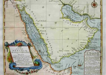 ARABIA CARTE DE LA COSTE D'ARABIE