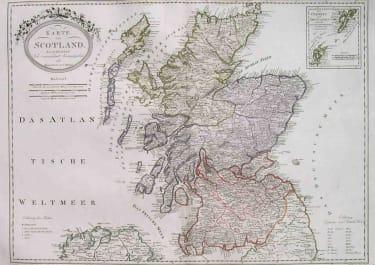 SCOTLAND KARTE VON SCOTLAND