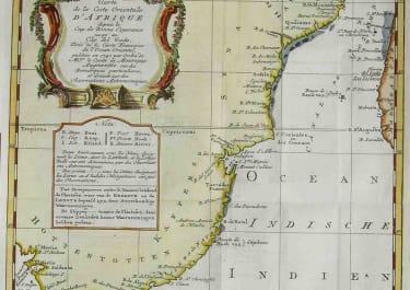 AFRICA SOUTH & EAST CARTE DE LA COSTE ORIENTALE D'AFRIQUE