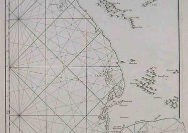 SEA CHART THE CAPE PLAN DU CAP DE BONNE-ESPERENCE ET DES ENVIRONS