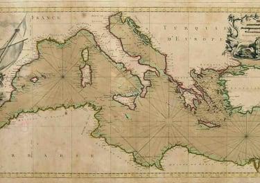 MEDITERRANEAN SEA CARTE DE LA MER MEDITERRANEE