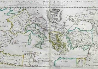 MEDITERRANEAN CARTE DE L'EMPIRE ROMAIN