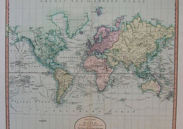 WORLD A NEW CHART OF THE WORLD ON MERCATOR'S PROJECTION