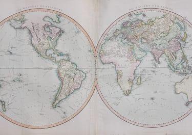 WORLD EASTERN & WESTERN HEMISPHERES
