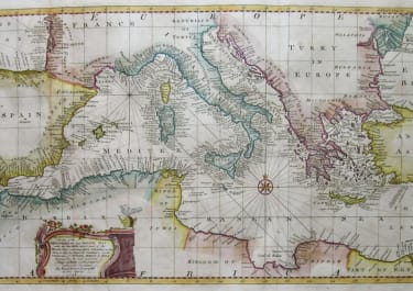 MEDITERRANEAN AN ACCURATE CHART OF THE MEDITERRANEAN AND ADRIATIC SEAS