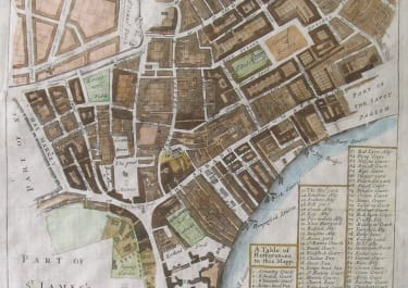 LONDON WARD MAP A MAPP OF THE PARISH OF ST MARTINS IN THE FIELD ,,