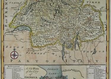 SWITZERLAND GENEVA A NEW AND ACCURATE MAP OF SWITZERLAND