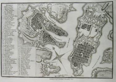 MALTA VALETTA A PLAN OF THE CITY OF MALTA