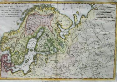 SCANDINAVIA LE NORD DE L'EUROPE CONTENANT LE DENMARK , LA NORVEGE LA SUEDE ET LA LAPONIE