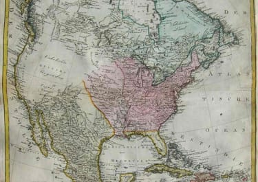 NORTH AMERICA 'FRANKLIN STATE' CHARTE VON NORDAMERICA