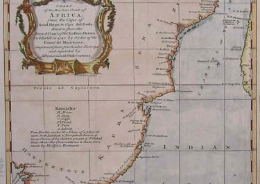 A CHART OF THE EASTERN COAST OF AFRICA