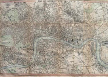 LONDON MAP OF LONDON AND ITS VICINITY