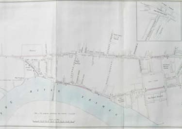 LONDON PLAN SHEWING THE PROPOSED IMPROVEMENTS TO THE ROADS FROM LONDON AND WESTMINSTER THROUGH CHELSEA