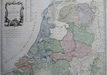 HOLLAND KARTE VON DER REPUBLIK DER VEREINIGTEN NIEDERLANDE