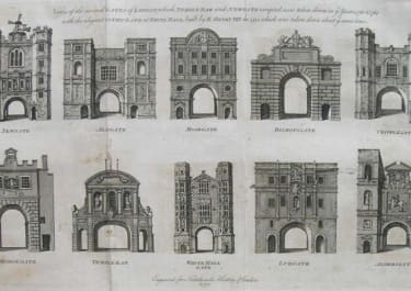 LONDON VIEWS OF SEVERAL GATES OF LONDON