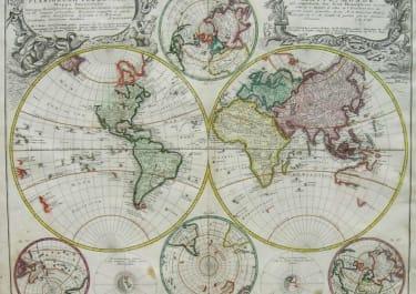 WORLD PLANIGLOBII TERRESTRIS MAPPA UNIVERSALIS