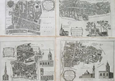 LONDON COMPLETE SET OF WARD MAPS NOORTHOUCK 17 maps