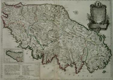 CORSICA CARTE PARTICULIEREDE L'ISLE DE CORSE