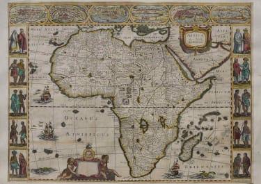 AFRICA AFRICA NOVA TABULA AUCT JUD HONDIO CARTE A FIGURES