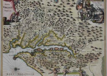 RARE MAP OF VIRGINIA NOVA VIRGINIAE TABULA