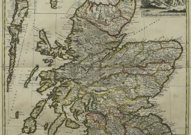 SCOTLAND A NEW MAP OF SCOTLAND