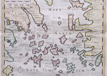 THE AEGEAN A NEW MAP OF THE ISLANDS OF THE AEGEAN SEA