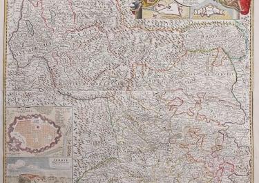 PIEDMONT & SAVOIE WALL MAP  LES ETATS DE SAVOYE ET DE PIEMONT