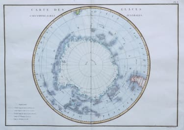 SOUTH POLE CARTE DES GLACES CIRCOMPOLAIRES AUSTRALES