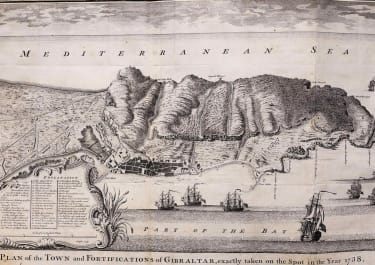 GIBRALTAR PLAN OF THE TOWN AND FORTIFICATIONS OF GIBRALTAR