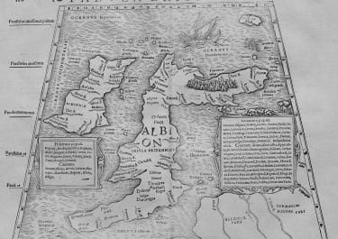 BRITISH ISLES TABULA BRITANNIAE