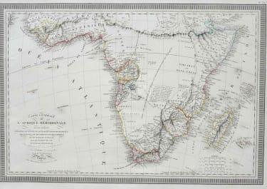 SOUTHERN AFRICA CARTE GENERALE DE L'AFRIQUE MERIDIONALE