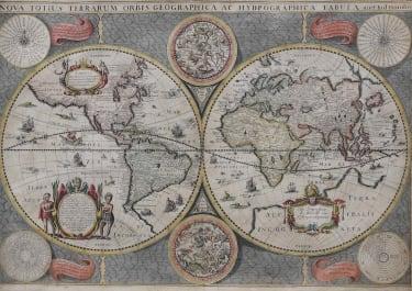 WORLD MAP NOVA TOTIUS ORBIS GEOGRAPHICA