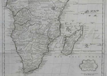 SOUTHERN AFRICA CARTA GEOGRAFICA DEL CONGO O BASSA GUINEA DELLA CAFFRARIA E DEL MONOMOTAPA