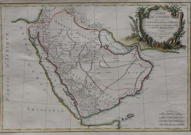ARABIA    CARTE DE L'ARABIE