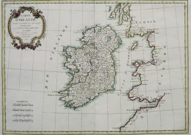 IRELAND    CARTE D'IRLANDE