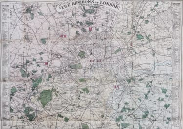 LONDON  BACON'S MAP..