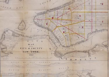 MAP OF THE CITY  & COUNTY OF NEW  YORK