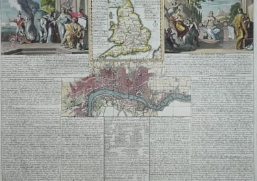 ENGLAND   MAP LONDON