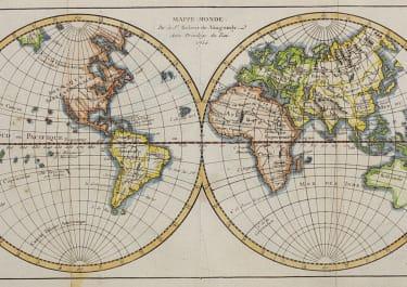 WORLD MAP 1750