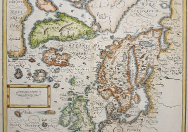NORTH ATLANTIC ICELAND FICTIOUS ISLANDS  FREISLAND.. 1570