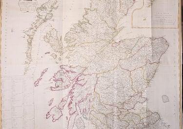 SCOTLAND  WALL MAP