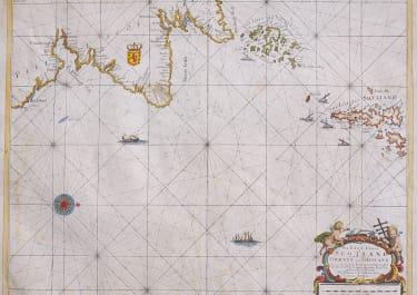 SCOTLAND  SEA CHART ORKNEYS  SHETLAND