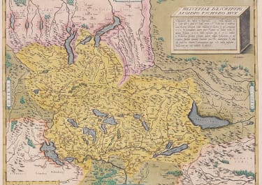 ORTELIUS  ORIGINAL COLOUR MAP OF SWITZERLAND MINT