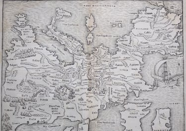 EUROPE  MUNSTERS FIRST MODERN MAP