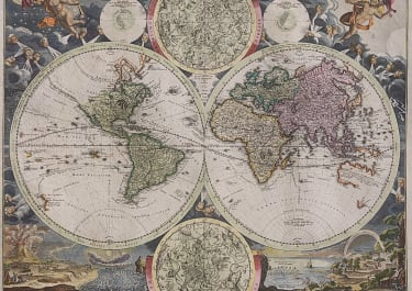 EARLY HOMANN WORLD MAP