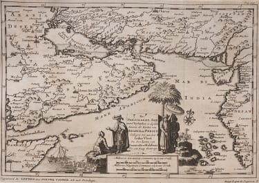 ARABIA  SURAT  TRADING MAP RARE