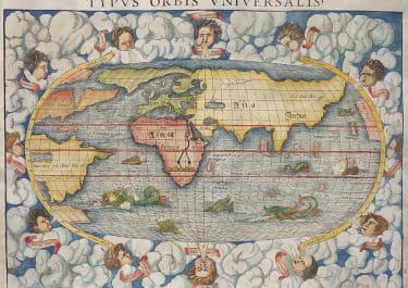 MUNSTER'S 1552 WORLD MAP