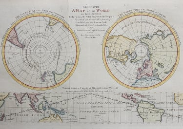 COOK'S VOYAGES  NORTH & SOUTH POLES