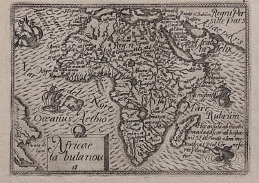 EARLY ORTELIUS AFRICA MAP FROM THE EPITOME