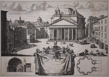 ROME PANTHEON  MONUMENTAL BLAEU